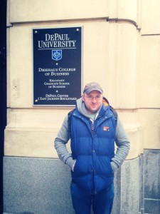 At DePaul University, Chicago, 2014